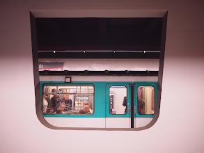 Photo: Metropolitain framed in concrete.