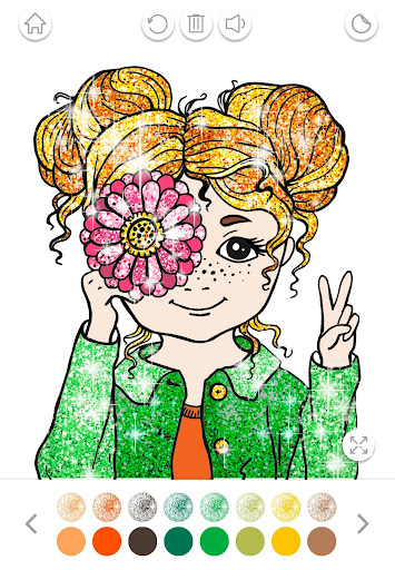 Girls Coloring Book for Kids Glitter apkpoly screenshots 6