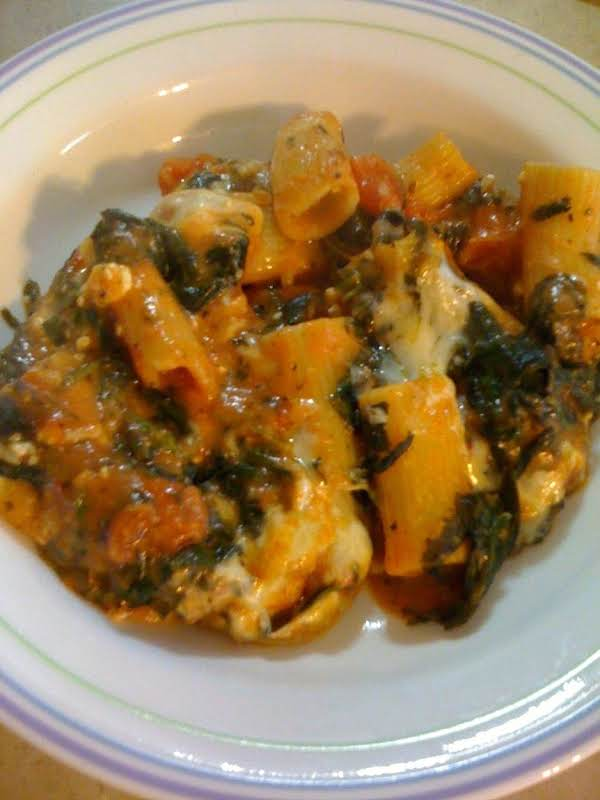 Rigatoni Wth Spinach And Ricotta Cheese Recipe