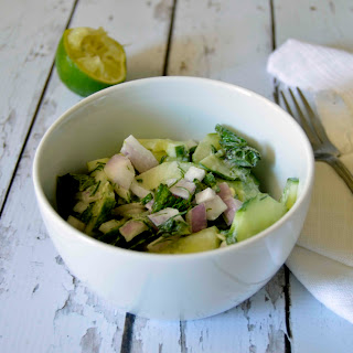 Paleo Cucumber Salad with Mint & Lime Dressing