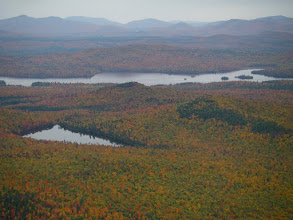 Photo: Cranberry and Union Falls Ponds with more mountains beyond.