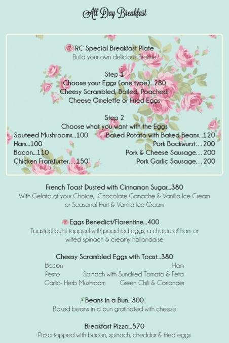 Rose Cafe menu 13