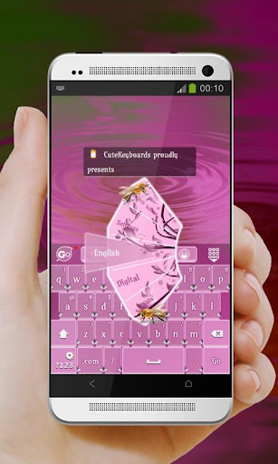 紫色の蜂 GO Keyboard