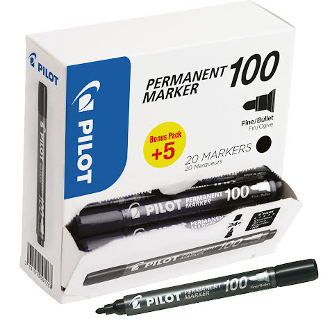Märkpenna Pilot 100 svart 20fp