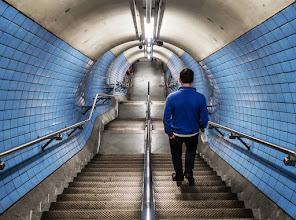 Photo: London #6 - Embankment tube station... ... blue...  #street #streetphotography #shootthestreet  #london #tube #underground