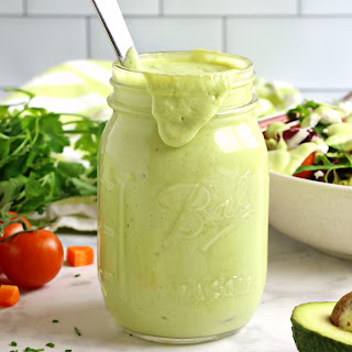 Healthy Creamy Avocado Ranch Salad Dressing.