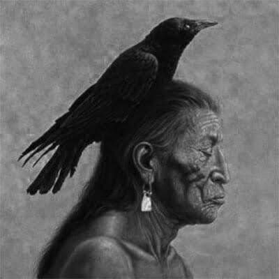 Representación de un brujo nahual