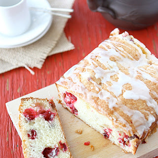Glazed Cranberry & Crystallized Ginger Loaf (Quick Bread)