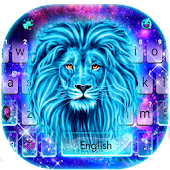 Galaxy Neon Lion Keyboard Theme Android APK Download Free By Cool Keyboard Theme Designer