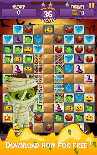Halloween Smash 2020 - Witch Candy Match 3 Puzzle apkmr screenshots 13
