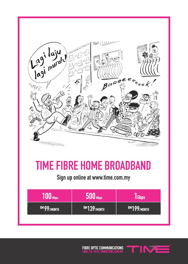 100Mbps hanya RM99 Sahaja! Biar betul TIME Internet?