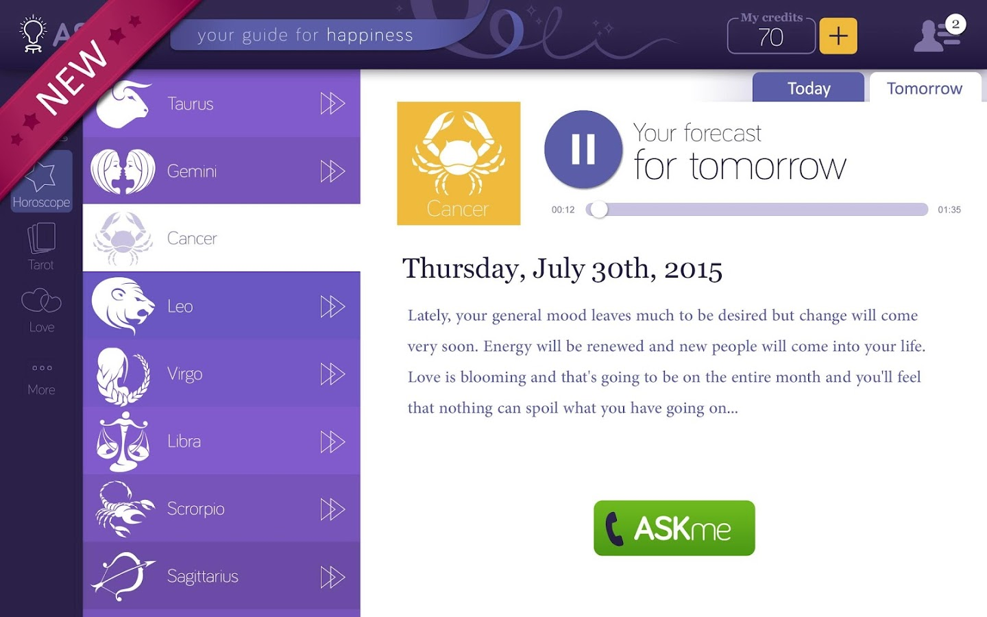 ASKme - Live Psychic Readings- screenshot