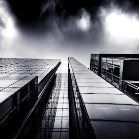 Black by Jay Reich - Buildings & Architecture Office Buildings & Hotels ( stuff, window, door, cloud, jay, black,  )