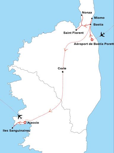 Carte Corse Ajaccio.Les Capitales De La Corse Bastia Corte Et Ajaccio