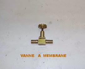 Photo: Une petite vanne à membrane; l'étanchéité est GARANTIE