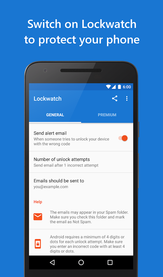 Lockwatch - Thief Catcher- screenshot