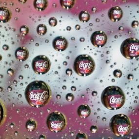 Coke Bubbles by Megan Richardson - Abstract Water Drops & Splashes ( water, refreshing, cola, bubble, coke, soda, refresh )