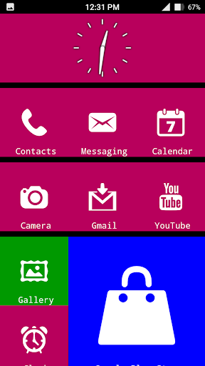 x launcher metro look - themes screenshot 3