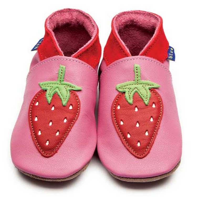 Inch Blue Soft Sole Leather Shoes - Strawberry Rose Pink (0-6 months)