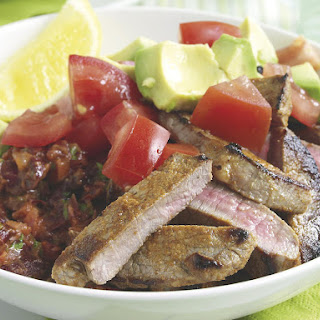 Mexican Steaks with Beans.