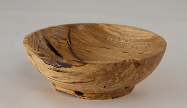 "Photo: Jack Enders 5"" x 1 3/4"" bowl [spalted ash]"