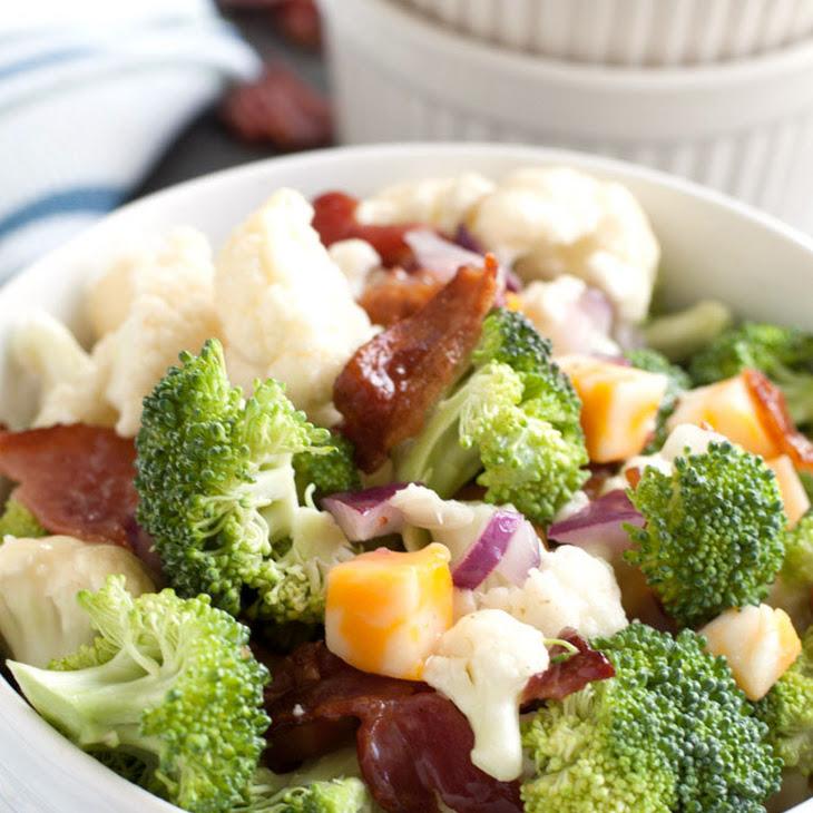 Broccoli and Cauliflower Salad with Bacon