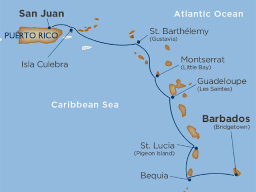The Caribbean Hideaways voyage on Star Legend.