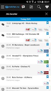 TVmatchen.nu - sport på TV- screenshot thumbnail