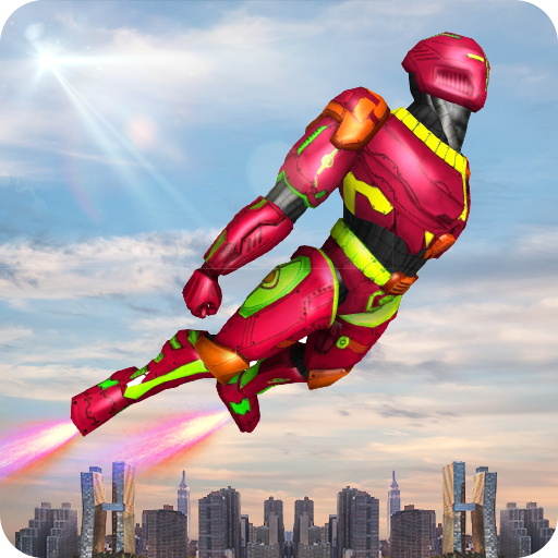 Flying Robot Superhero Rescue