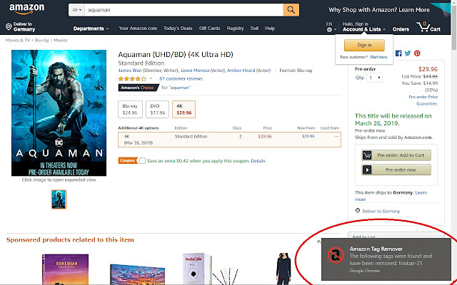 Amazon Tag Remover