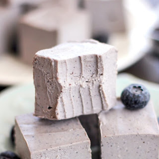 Healthy Raw Blueberry Coconut Fudge