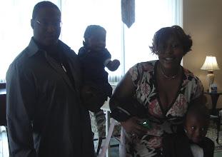 Photo: Izjan's mom, Lashaun and her boyfriend and daughter