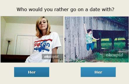 รูปผู้หญิงสองรูปเปรียบเทียบกัน