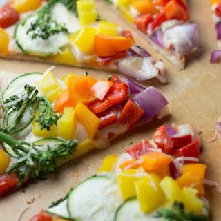 Rainbow Veggie Pizza.