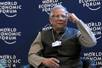 Photo: DAVOS/SWITZERLAND, 28JAN12 - Muhammad Yunus, Chairman, Yunus Centre, Bangladesh speaks during the session 'Social Innovation Models' at the Annual Meeting 2012 of the World Economic Forum at the congress centre in Davos, Switzerland, January 28, 2012.Copyright by World Economic Forumswiss-image.ch/Photo by Moritz Hager