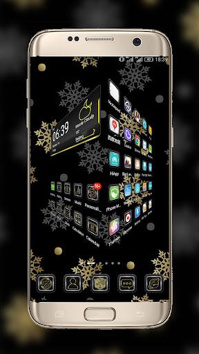玩免費新聞APP|下載Gold & Silver Snowflakes THEME app不用錢|硬是要APP