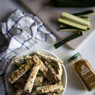 Baked Zucchini Fries with Curry Aioli