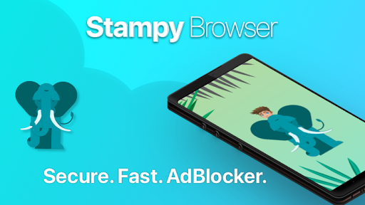 Stampy Browser: AdBlocker, Incognito and Secure - screenshot