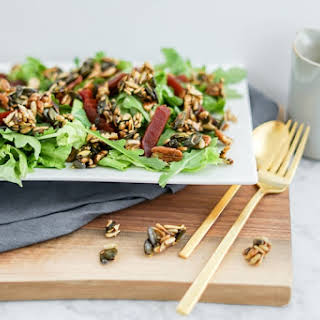 Beet Salad with Maple Candied Seeds | Vegan.