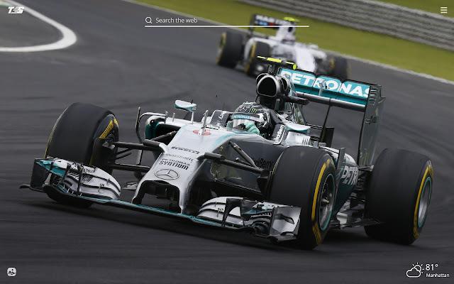 Mercedes F1 HD Wallpaper New Tab Theme