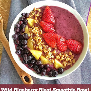 Wild Blueberry Blast Smoothie Bowl