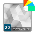Polygon White Xperia™ Theme icon