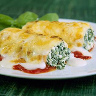 Spinach and Ricotta Cannelloni/Manicotti (Cannelloni ricotta e spinaci).
