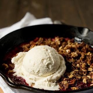 Stovetop Rhubarb-Cherry Crisp