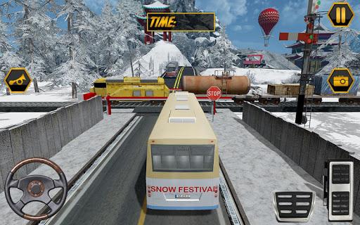 눈 축제 언덕 관광 버스