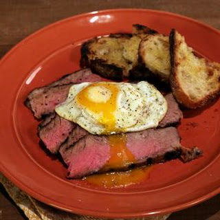 Porcini-Rubbed Ribeye and Eggs