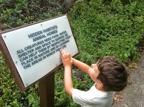 Photo: Clark Reads on a Hike