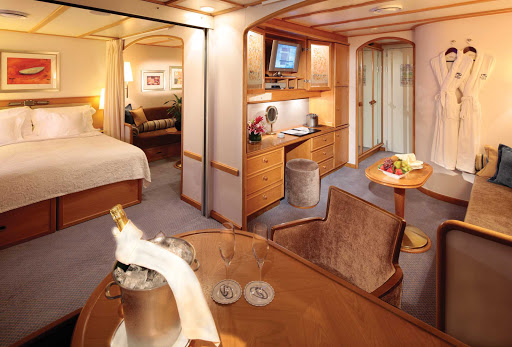 Seadream-Commodore-Suite.jpg - Commodore Suites on SeaDream Yachts offer flexibility for family travel.