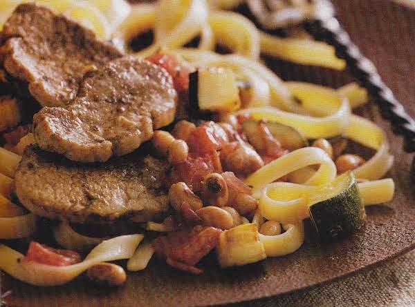 Peppery Cajun Pork-- Pasta