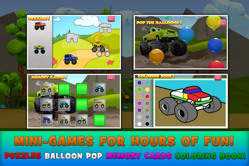 Monster Trucks Game for Kids 2 apkslow screenshots 3